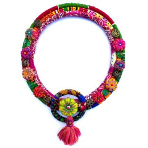 African textile necklace