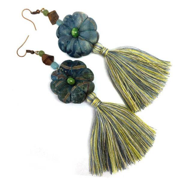 textile earrings