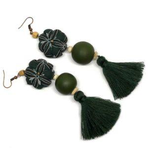African Textile earrings