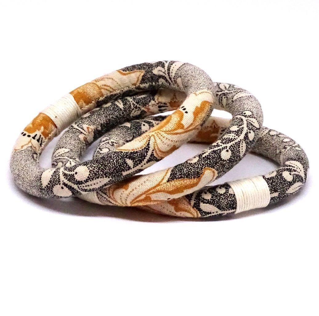 Ivory textile bracelet