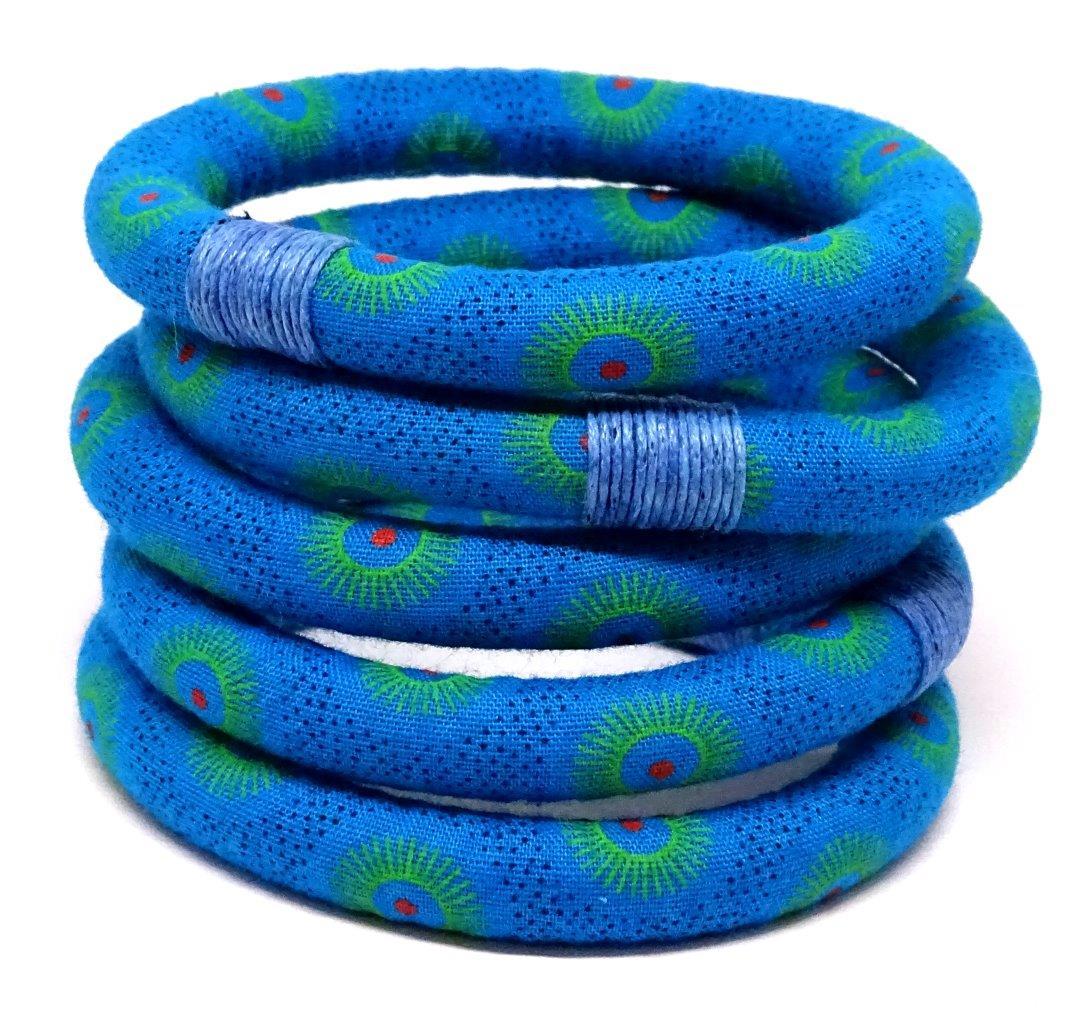Turquoise textile bracelet