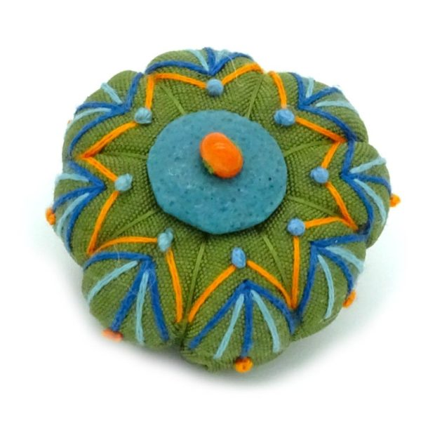 One of a kind textile brooches