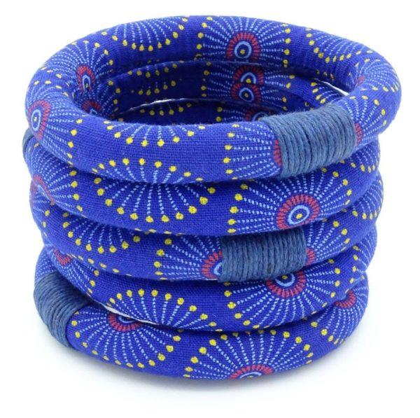 Blue shweshwe bracelet