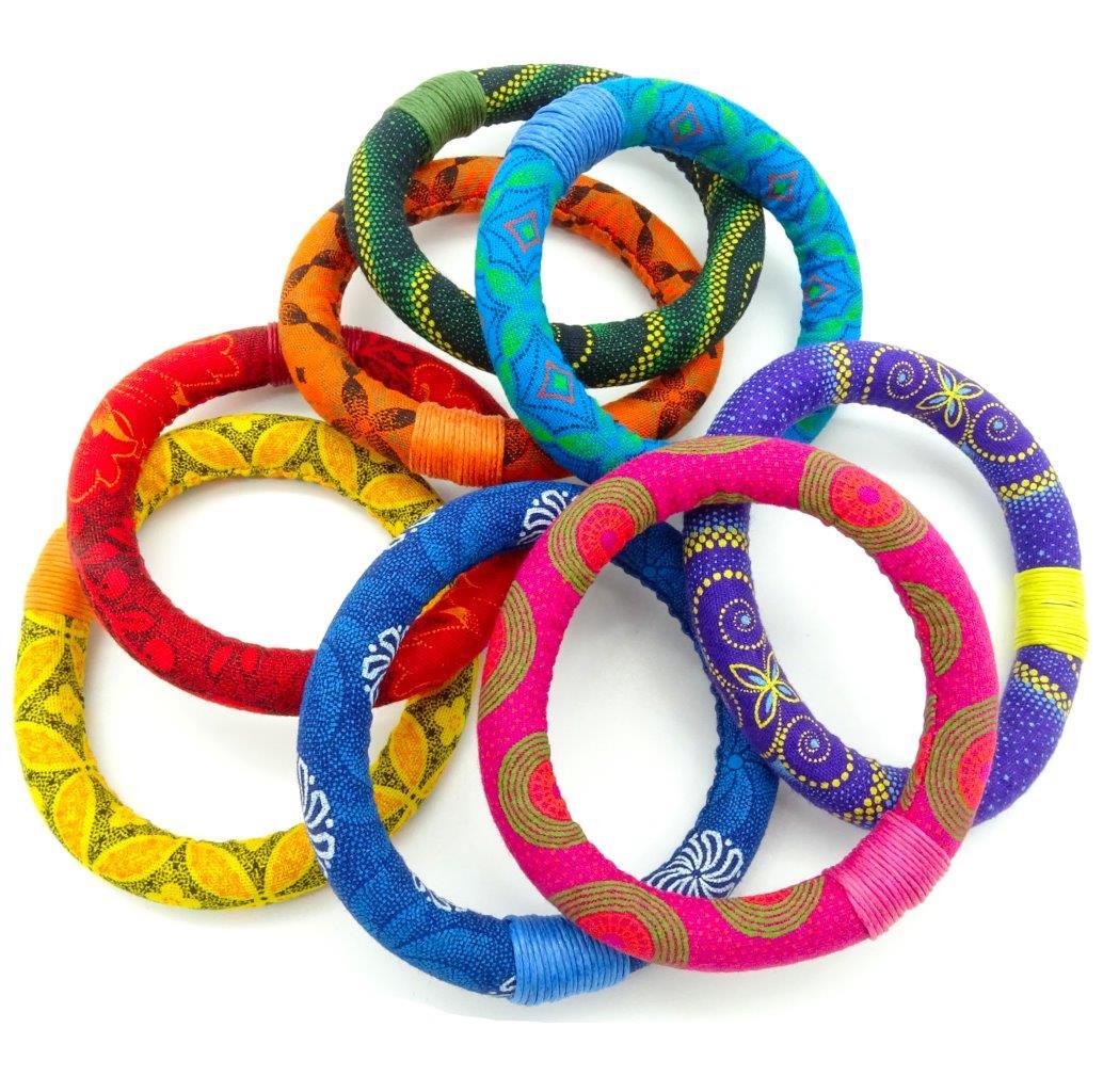 shweshwe fabric bracelets