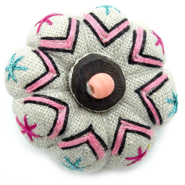 African textile brooches