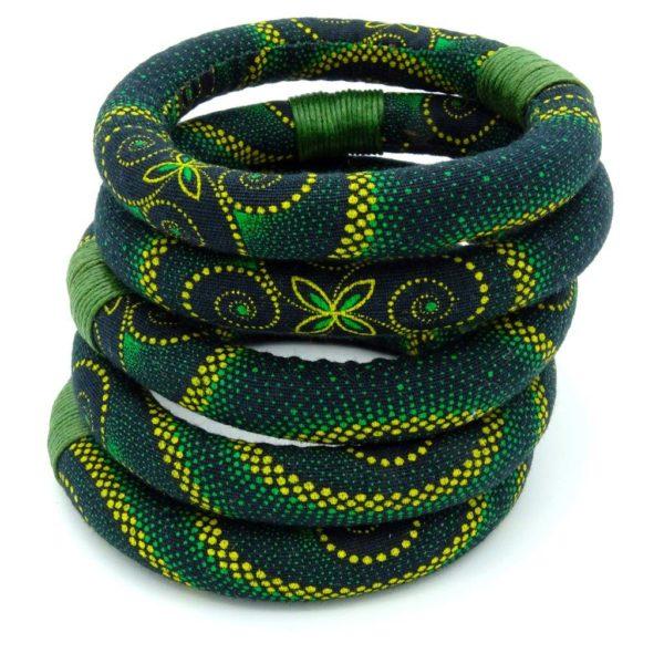 Green textile bangle
