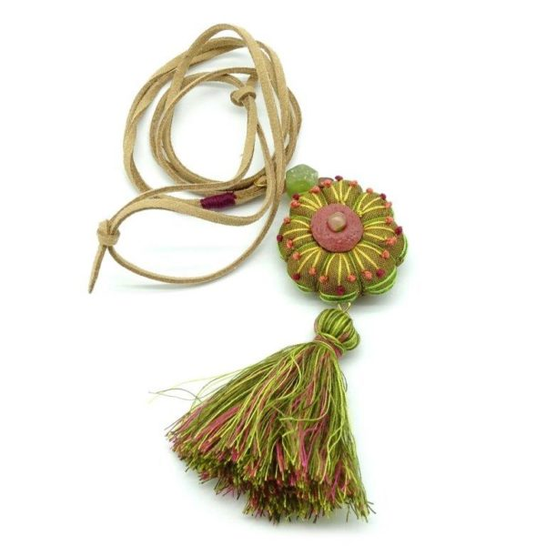 textile pendant necklace