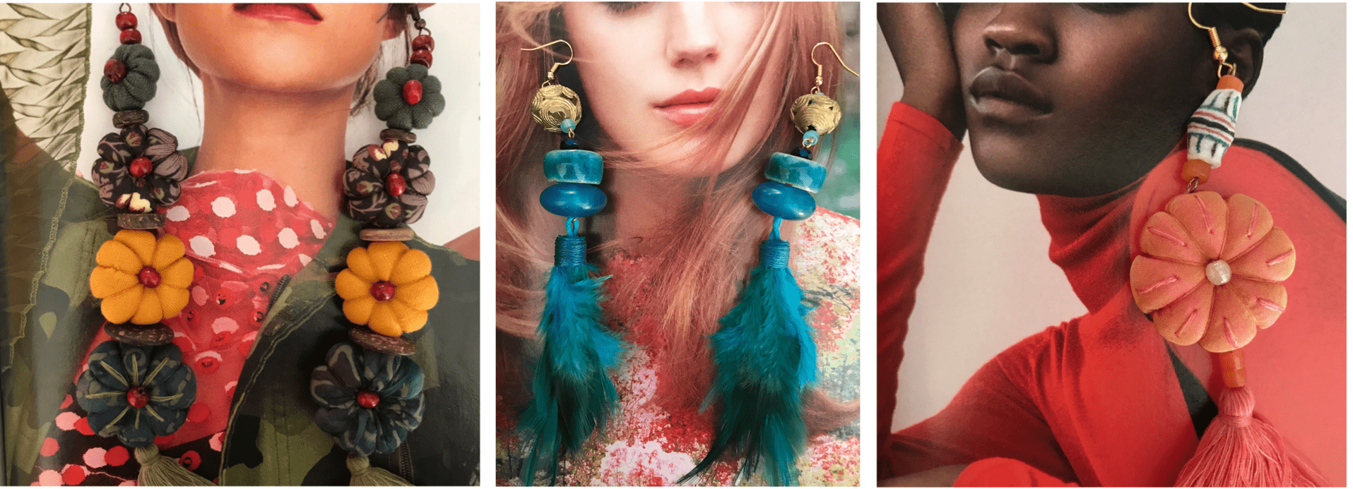 South African textile jewellery